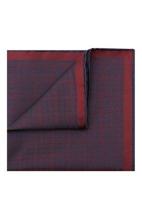Мужской шелковый платок BRIONI бордового цвета, арт. 071000/0942X | Фото 1