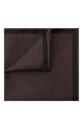 Мужской шелковый платок BRIONI коричневого цвета, арт. 071000/0942R | Фото 1