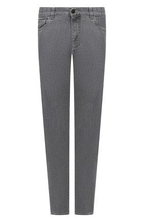 Мужские джинсы CANALI серого цвета, арт. 91736/PY00671 | Фото 1