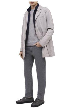 Мужские джинсы CANALI серого цвета, арт. 91736/PY00671 | Фото 2