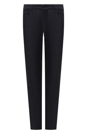 Мужские джинсы CANALI черного цвета, арт. 91736/PY00671 | Фото 1