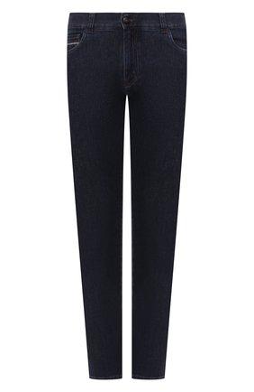 Мужские джинсы CANALI темно-синего цвета, арт. 91732R/PX00818 | Фото 1