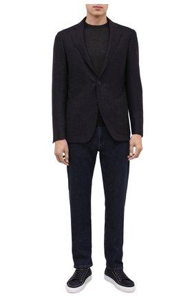 Мужские джинсы CANALI темно-синего цвета, арт. 91732R/PX00818 | Фото 2