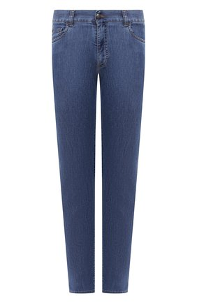 Мужские джинсы CANALI голубого цвета, арт. 91700/PD00400 | Фото 1