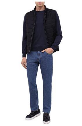 Мужские джинсы CANALI голубого цвета, арт. 91700/PD00400 | Фото 2