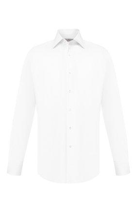 Мужская хлопковая сорочка CANALI белого цвета, арт. 705/GA00098 | Фото 1