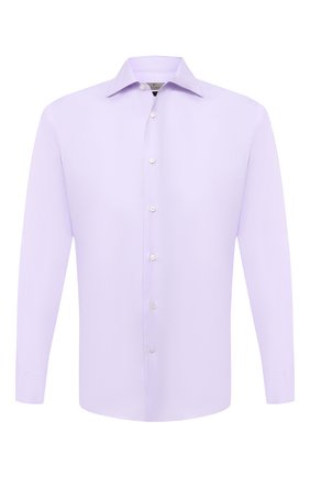 Мужская хлопковая сорочка CANALI сиреневого цвета, арт. XX18/GX02030 | Фото 1