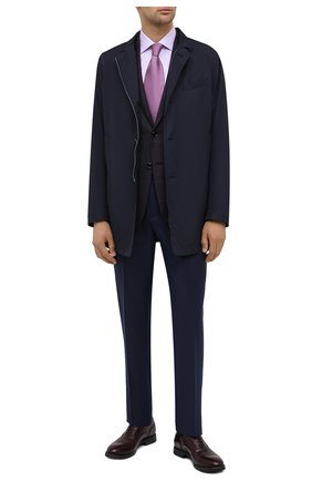Мужская хлопковая сорочка CANALI сиреневого цвета, арт. XX18/GX02030 | Фото 2