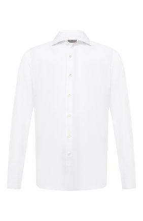 Мужская хлопковая сорочка CANALI белого цвета, арт. X58/GD01870 | Фото 1