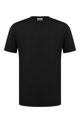 Мужская футболка CANALI черного цвета, арт. T0622/MY01049 | Фото 1