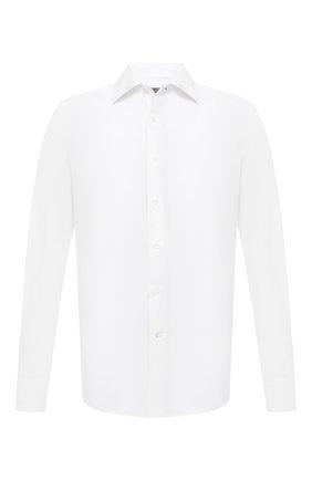 Мужская хлопковая сорочка CANALI белого цвета, арт. NX05/GR01598 | Фото 1
