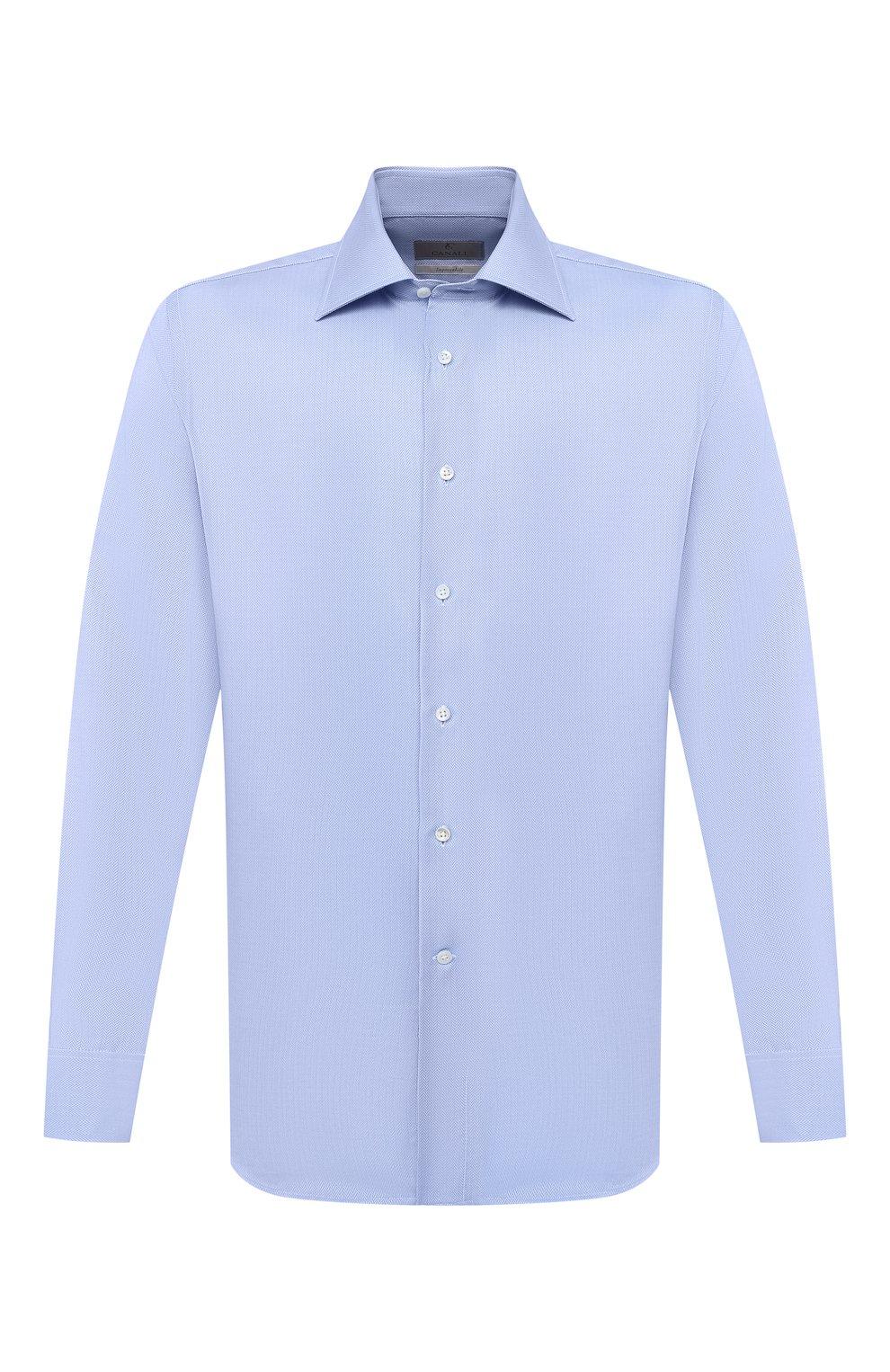 Мужская хлопковая сорочка CANALI голубого цвета, арт. N705/GR01926/P | Фото 1