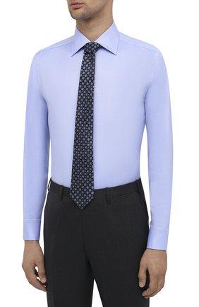 Мужская хлопковая сорочка CANALI голубого цвета, арт. N705/GR01926/P | Фото 4