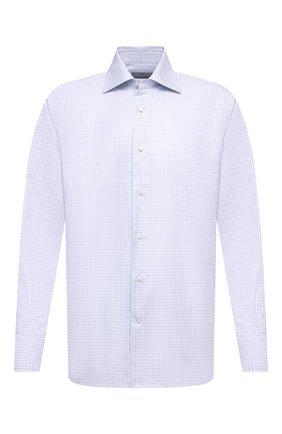 Мужская хлопковая сорочка CANALI голубого цвета, арт. 7705/GX02029   Фото 1
