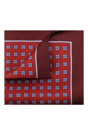 Мужской шелковый платок CANALI красного цвета, арт. 03/HS02985 | Фото 1