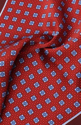Мужской шелковый платок CANALI красного цвета, арт. 03/HS02985 | Фото 2