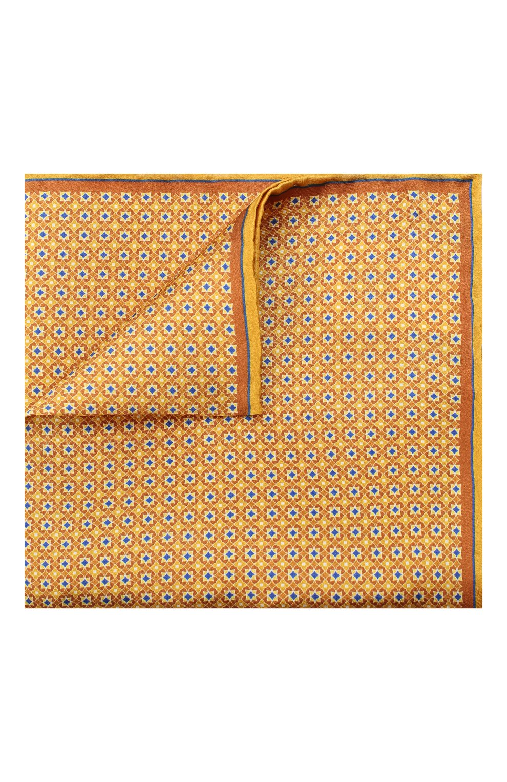 Мужской шелковый платок CANALI желтого цвета, арт. 03/HS02983 | Фото 1