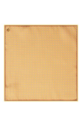 Мужской шелковый платок CANALI желтого цвета, арт. 03/HS02983 | Фото 3