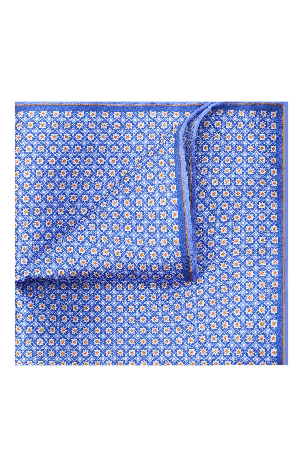 Мужской шелковый платок CANALI синего цвета, арт. 03/HS02983 | Фото 1