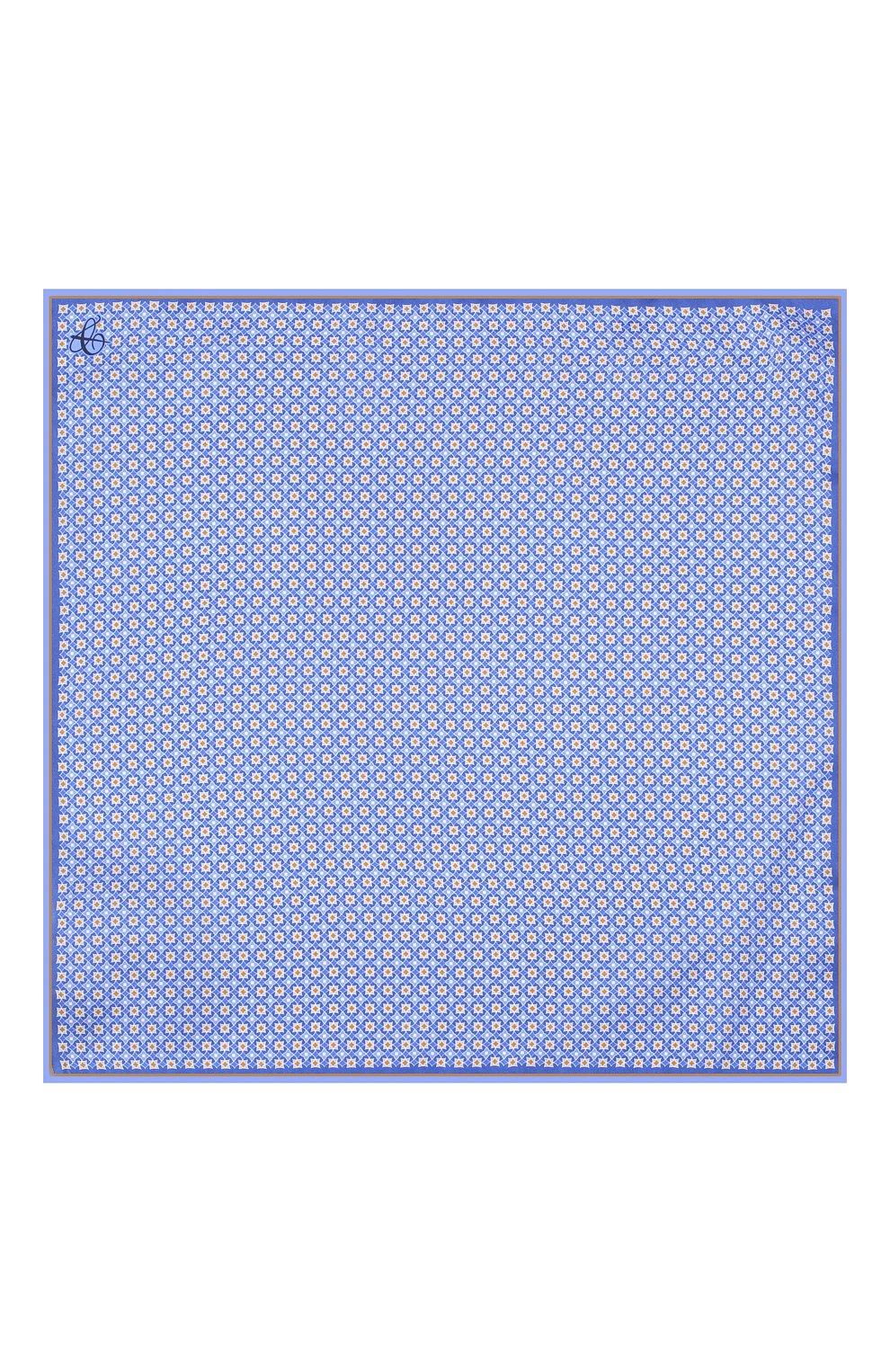 Мужской шелковый платок CANALI синего цвета, арт. 03/HS02983 | Фото 3