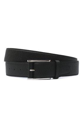 Мужской кожаный ремень KITON черного цвета, арт. USC7140N00709/120-140 | Фото 1