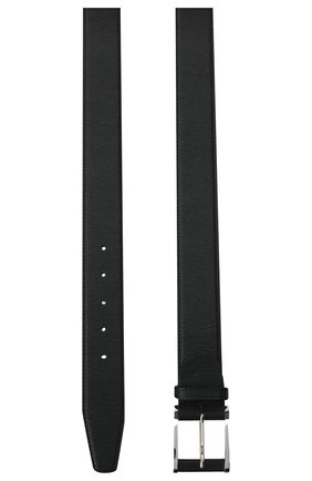 Мужской кожаный ремень KITON черного цвета, арт. USC7140N00709/120-140 | Фото 2