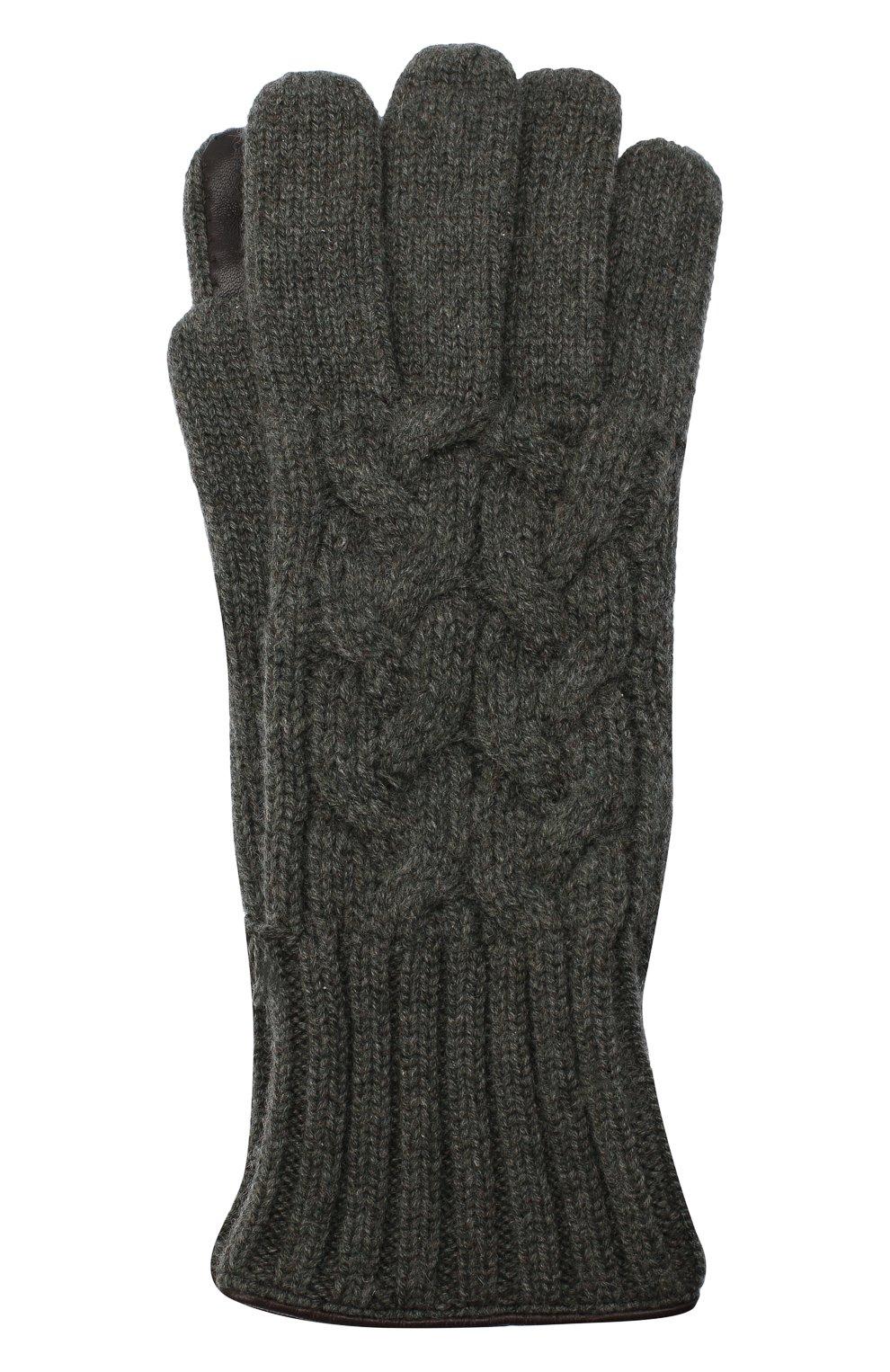 Мужские кашемировые перчатки KITON серого цвета, арт. UGU115X03T25   Фото 1