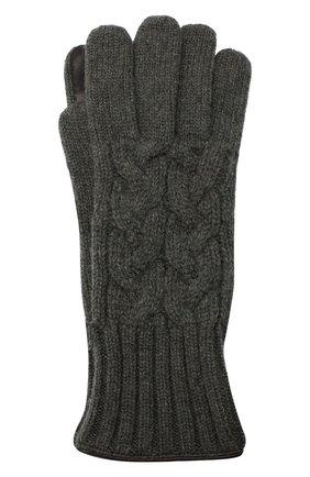 Мужские кашемировые перчатки KITON серого цвета, арт. UGU115X03T25 | Фото 1