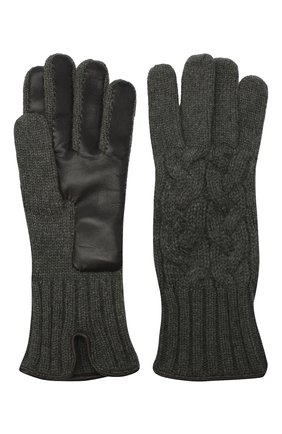 Мужские кашемировые перчатки KITON серого цвета, арт. UGU115X03T25 | Фото 2