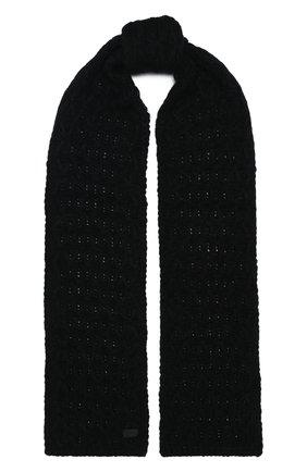 Мужской шерстяной шарф SAINT LAURENT черного цвета, арт. 632723/4YG24 | Фото 1