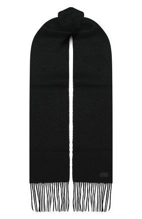 Мужской шерстяной шарф SAINT LAURENT черного цвета, арт. 625821/4YC89 | Фото 1