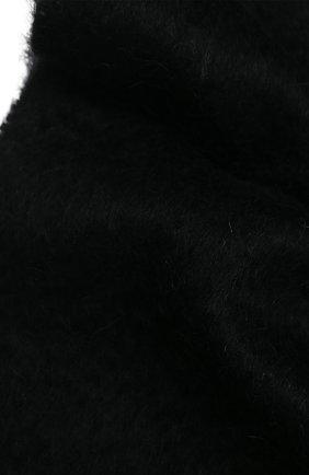 Мужской шерстяной шарф SAINT LAURENT черного цвета, арт. 625821/4YC89 | Фото 2