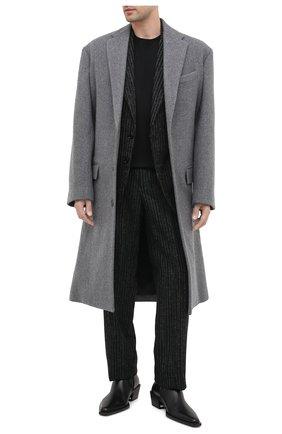 Мужские кожаные казаки BALENCIAGA черного цвета, арт. 624427/WA72D | Фото 2