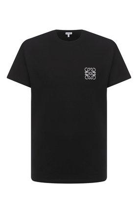 Мужская хлопковая футболка LOEWE черного цвета, арт. H526341XAI | Фото 1