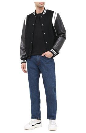 Мужская хлопковая футболка LOEWE черного цвета, арт. H526341XAI | Фото 2