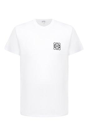 Мужская хлопковая футболка LOEWE белого цвета, арт. H526341XAI | Фото 1