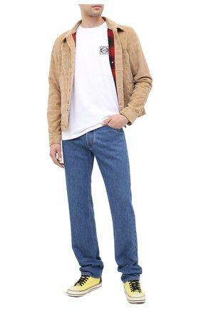 Мужская хлопковая футболка LOEWE белого цвета, арт. H526341XAI | Фото 2