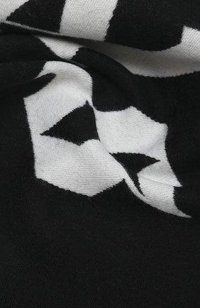 Мужской шарф из шерсти и хлопка PALM ANGELS черно-белого цвета, арт. PMMA011E20KNI0011001 | Фото 2