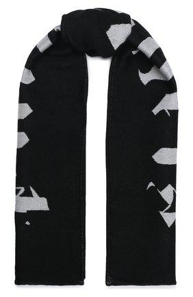Мужской шарф из шерсти и хлопка PALM ANGELS черно-белого цвета, арт. PMMA019F20KNI0041001 | Фото 1