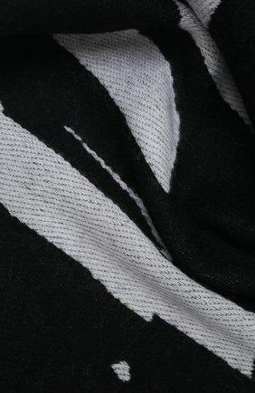 Мужской шарф из шерсти и хлопка PALM ANGELS черно-белого цвета, арт. PMMA019F20KNI0041001 | Фото 2