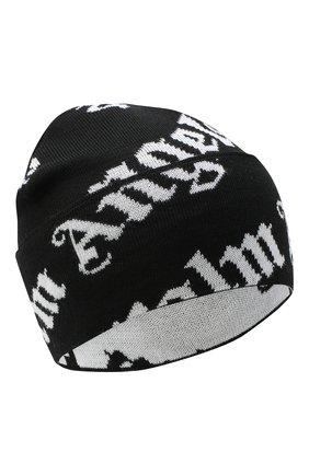 Мужская комплект из шапки и шарфа PALM ANGELS черно-белого цвета, арт. PMZG016F20KNI0031001 | Фото 2