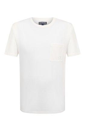 Мужская хлопковая футболка VILEBREQUIN белого цвета, арт. TUSU0P00/052 | Фото 1