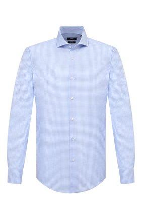 Мужская хлопковая сорочка BOSS голубого цвета, арт. 50439167 | Фото 1