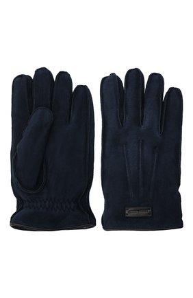 Мужские замшевые перчатки GIORGIO ARMANI темно-синего цвета, арт. 744149/0A209 | Фото 2