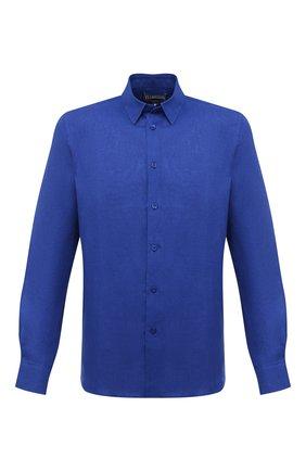 Мужская льняная рубашка VILEBREQUIN темно-синего цвета, арт. CRSE9U00/355 | Фото 1