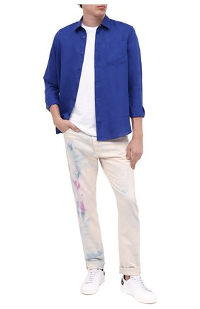 Мужская льняная рубашка VILEBREQUIN темно-синего цвета, арт. CRSE9U00/355 | Фото 2