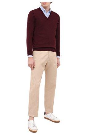 Мужской шерстяной пуловер POLO RALPH LAUREN бордового цвета, арт. 710714347 | Фото 2