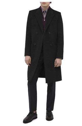 Мужской кожаные дерби ALDO BRUE черного цвета, арт. AB8118K-MP.L.A99G   Фото 2