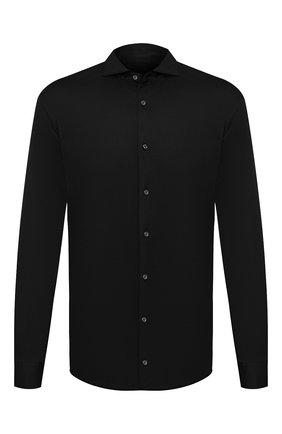 Мужская хлопковая рубашка VAN LAACK черного цвета, арт. M-PER-L/180031 | Фото 1