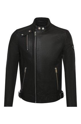 Мужская кожаная куртка DIESEL черного цвета, арт. A00039/0KAZC | Фото 1